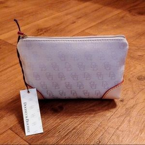Dooney and Bourke logo cosmetic case